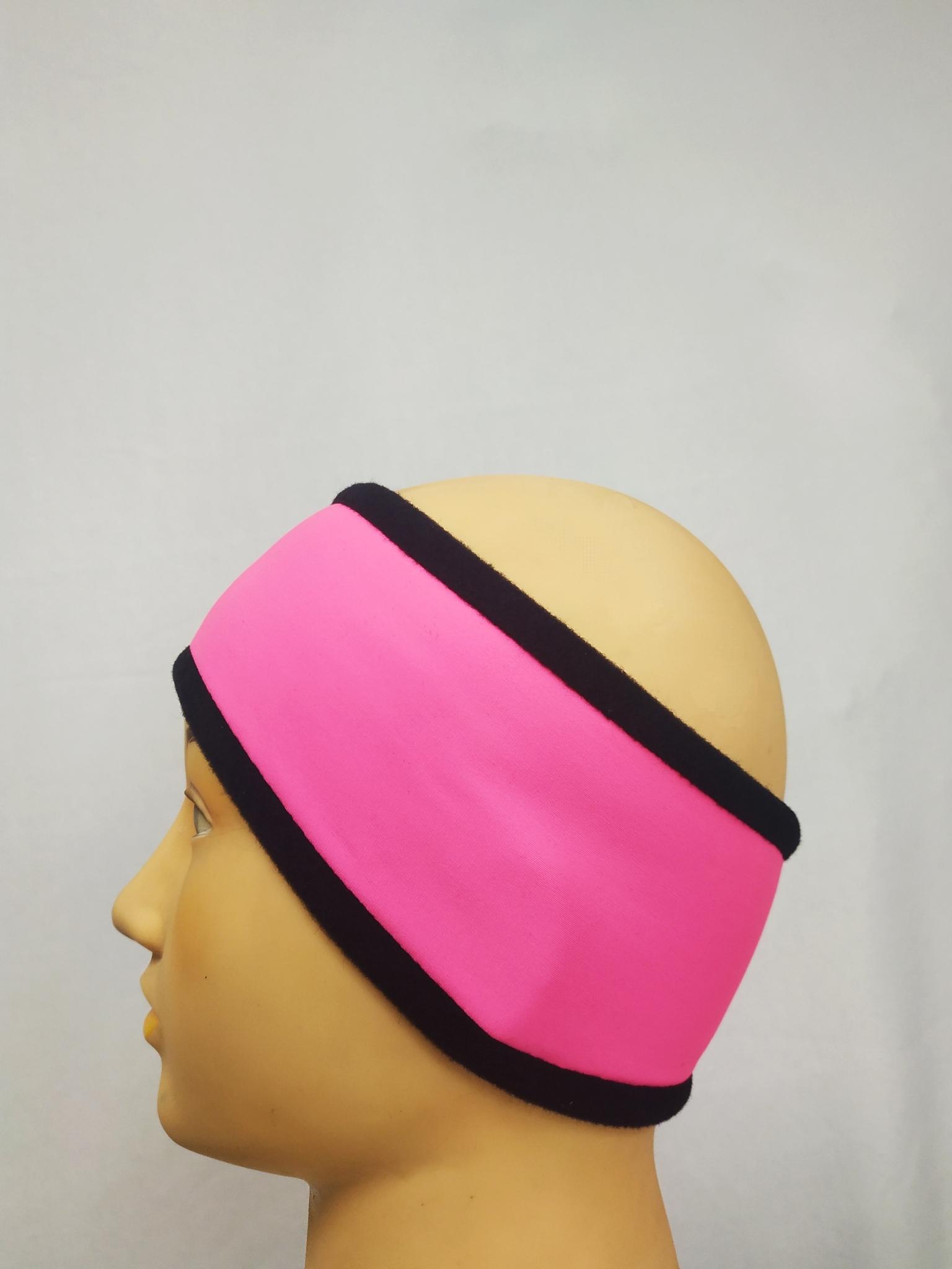 Повязка двойная из термоткани (чёрно-розовая)