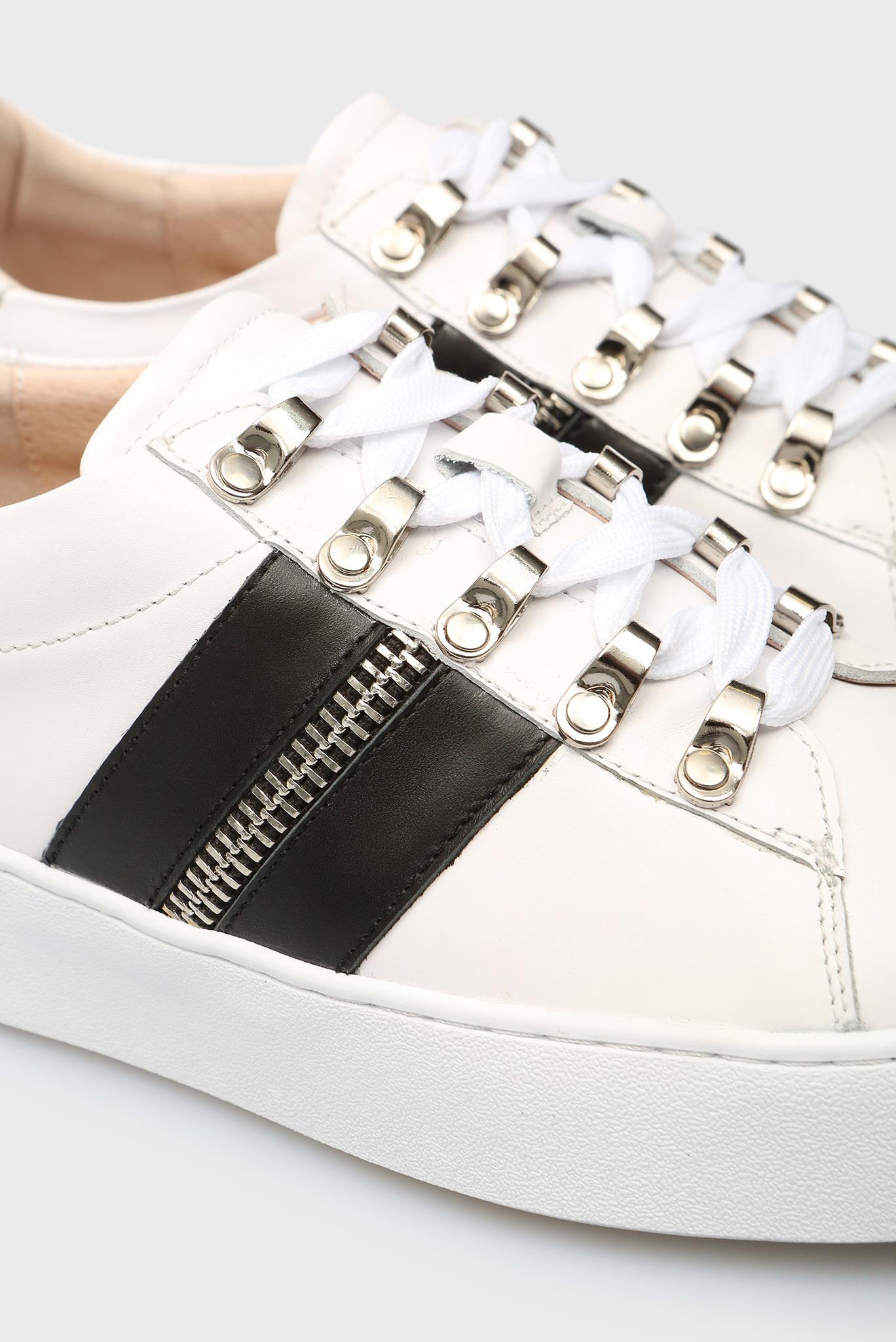 Женские белые кожаные сникеры Nicki Preppy