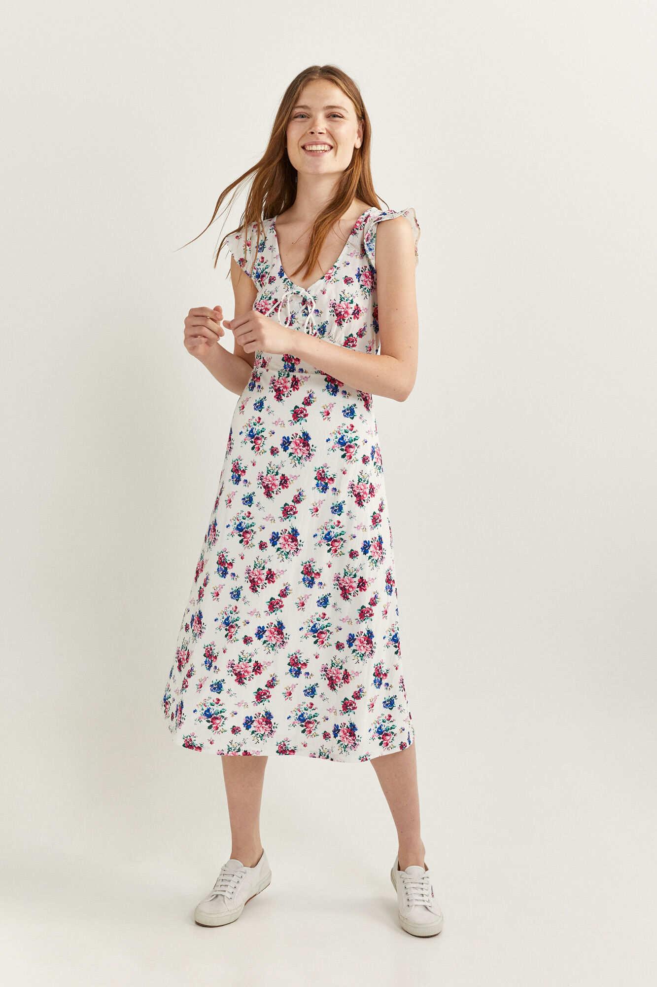 Сукня-міді з квітковими принтом