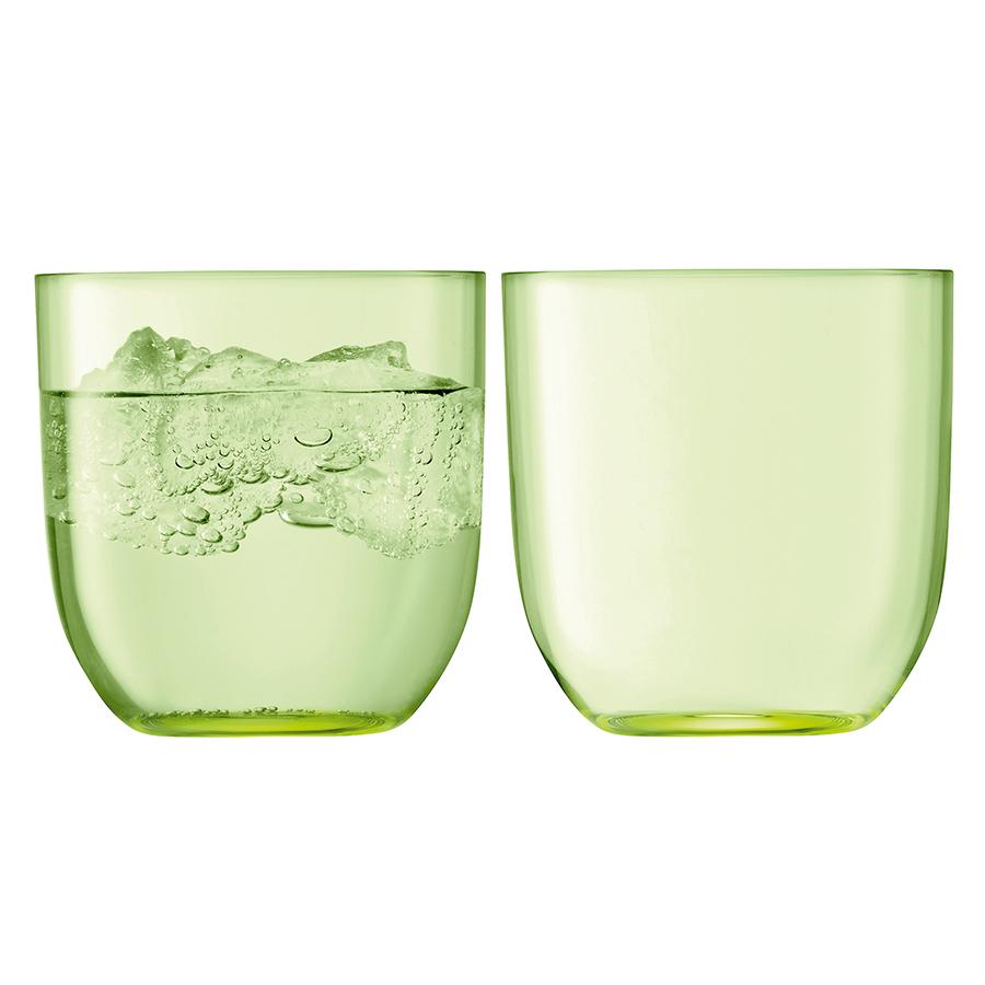 Набор из 2 стаканов для воды и виски «Hint», 400 мл зелёный набор из 2 стаканов для воды и виски hint 400 мл зелёный