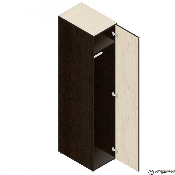 Шкаф для одежды глубокий Р.П-7 (венге/дуб), ЛДСП, Альтерна