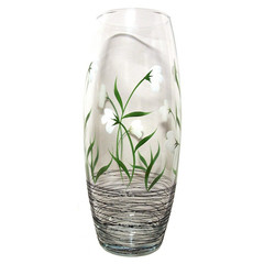 Ваза Подснежники стекло прозрачный высота изделия 25 см