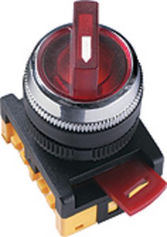 Переключатель АNС-22-2 на 2 фикс.полож.красный неон/230В I-O 1з+1р TDM