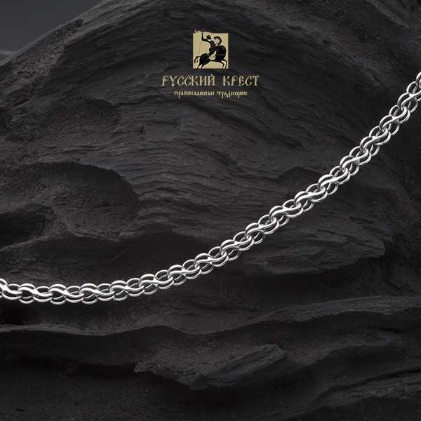 крупная цепь серебро