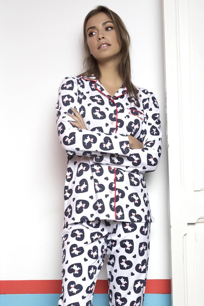 Пижама с сердцами и собачками Admas