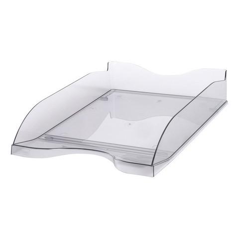 Лоток для бумаг горизонтальный Стамм тонированный серый (2 штуки в упаковке)