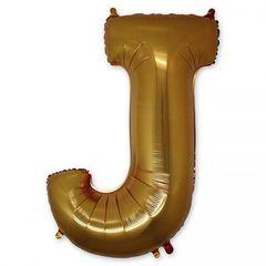 """Буква """"J"""" золото 102 см"""