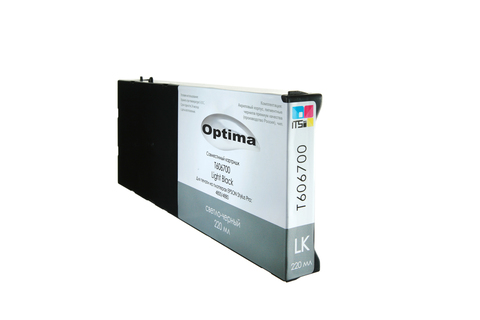 Картридж Optima для Epson 4900 C13T653700 Light Black 200 мл