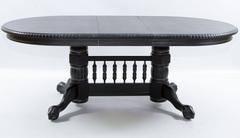 """Стол """"HNDT - 4280 SWL"""" овальный раскладной —  Античный черный (с патиной)  (MK-1103-AB)"""