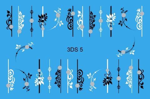 3D слайдер для ногтей со стразами, 3DS- 5