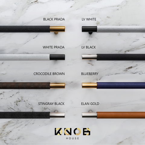 Ручка скоба N23 Premium Leather без планки