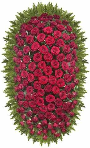 Венок из живых цветов №40 (160 см)