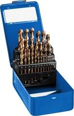 Набор сверл по металлу 25 шт (d=1-13 мм), КОБАЛЬТ, сталь Р6М5К5, класс А, ЗУБР Профессионал 29626-H25