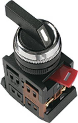 Переключатель АNСLR-22-3 на 3 фикс.полож.красный неон/230В I-O 1з+1р TDM