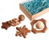 Подарочный набор погремушек и грызунков «Звездопад»