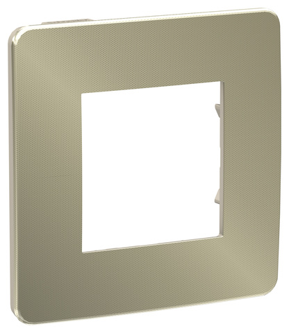 Рамка на 1 пост. Цвет Бронза/бежевый. Schneider Electric Unica Studio. NU280251
