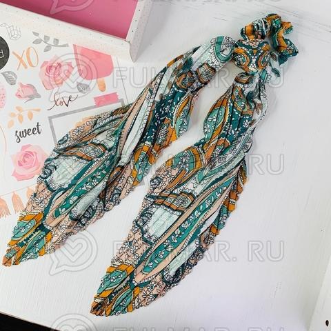 Плиссированный платок с резинкой модный аксессуар для волос Абажур (цвет: зелёный)