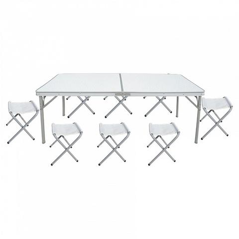 Набор: стол складной с 8-ю складными стульями НТО9-0059/9
