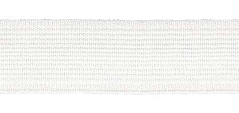 Тесьма эластичная 20 мм., белый