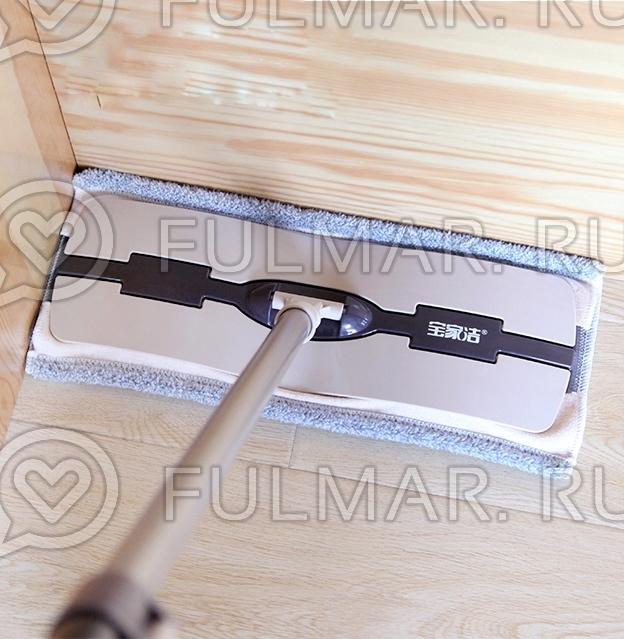 Швабра гринвей для мытья пола с микрофиброй Boomjoy Floor Mop фото