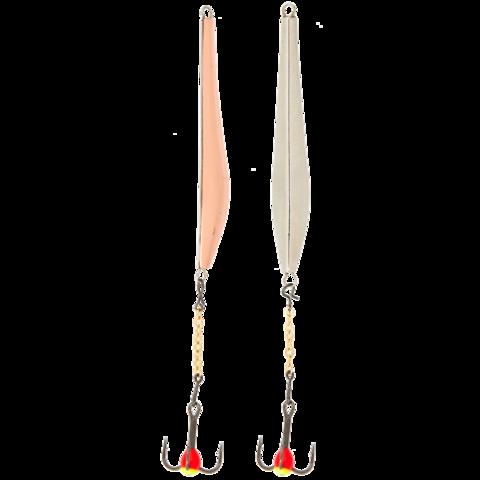 Блесна вертикальная зимняя LUCKY JOHN Double Blade (цепочка, тройник), 50 мм, CS