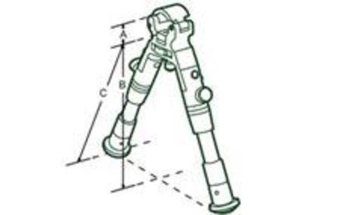 Сошки UTG LEAPERS на ствол (ВЫСОТА 22 - 26 СМ) TL-BP08S-A