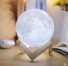 led-светильник ночник сенсорный луна шар 3D купить