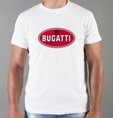 Футболка с принтом Bugatti (Бугатти) белая 001
