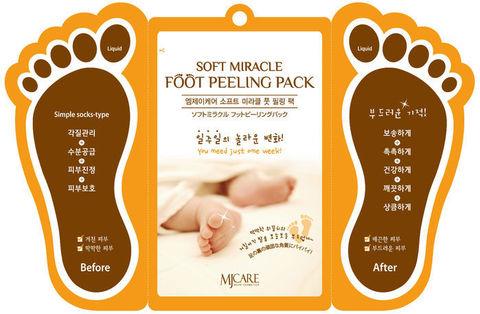 Пилинг для ног Mijin Soft Miracle Foot Peeling Pack .