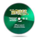 Алмазный диск MESSER-DIY диаметр 350 мм со сплошной режущей кромкой для резки керамогранита, гранита и мрамора