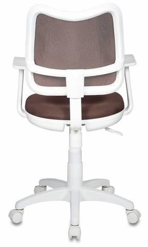 спинка сетка коричневый сиденье коричневый TW-14C (пластик белый)