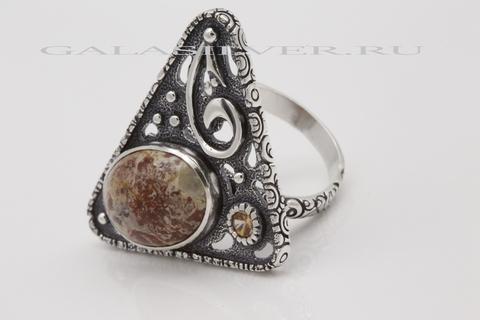 Кольцо с яшмой из серебра 925