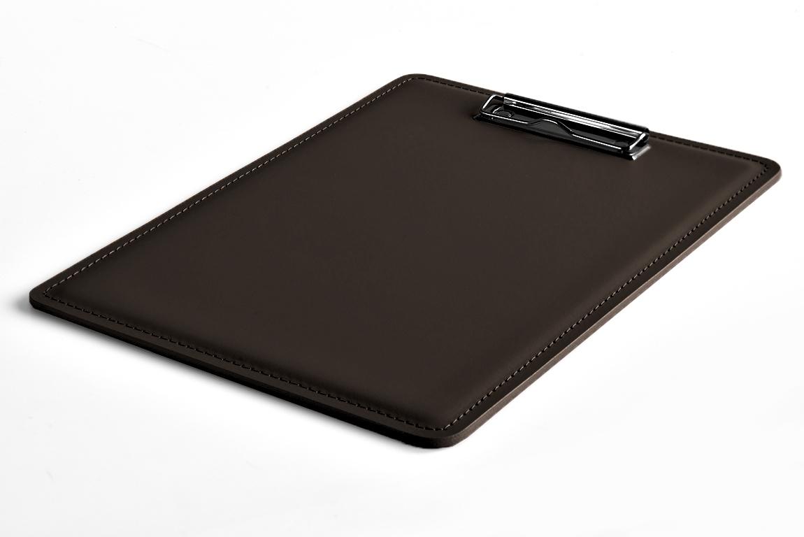кожаный планшет коричневый А4