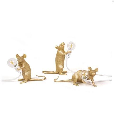 Настольный светильник копия Mouse by Seletti (золотой)