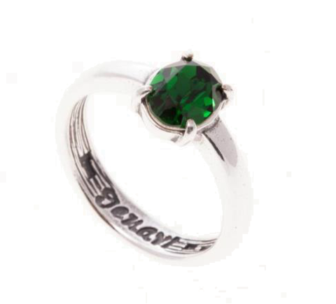 Кольцо с серебрением Триса