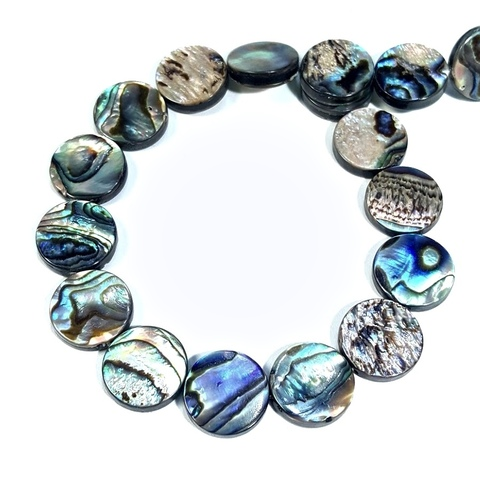 Бусина перламутр Blue Abalone Shell 15 мм 1 шт