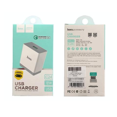Купить сетевое зарядное устройство Hoco C24