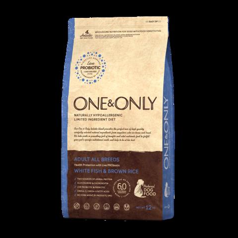 One&Only White fish & Rice Adult All Breeds Сухой корм для взрослых собак всех пород Белая рыба с рисом низкозерновой