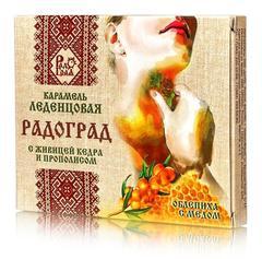 Леденцы Радоград с облепихой и мёдом, 10 шт.*3,2 гр.  (Радоград)