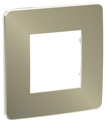 Рамка на 1 пост. Цвет Бронза/белый. Schneider Electric Unica Studio. NU280250