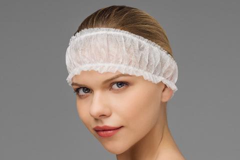 *Фиксатор для волос на 2-х резинках (Чистовье/спандбонд/10шт-упк/00-981)
