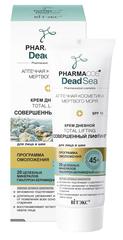 Крем дневной 45+ «Совершенный лифтинг» для лица и шеи SPF 15, 50 мл. PHARMACOS DEAD SEA
