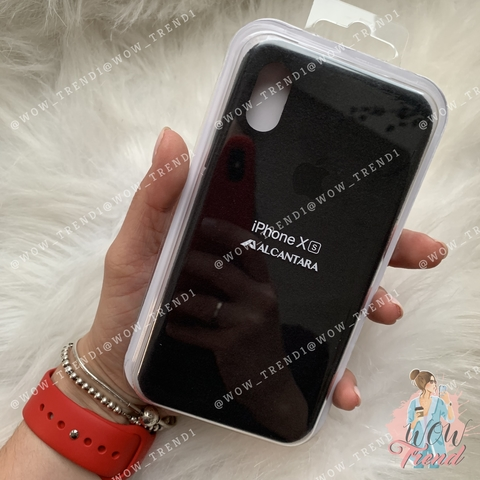 Чехол iPhone X/XS Alcantara case /black/