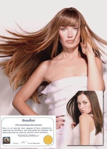Волосы на заколках цвет# 7-светлый коричневый золотистый