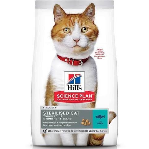 Корм для кошек Hill's Science Plan Feline Sterilised Cat Young Adult with Tuna 10 кг с тунцом.