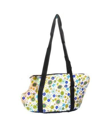 Мягкая сумка-переноска для собак Цветочный узор, 36х24х20 см