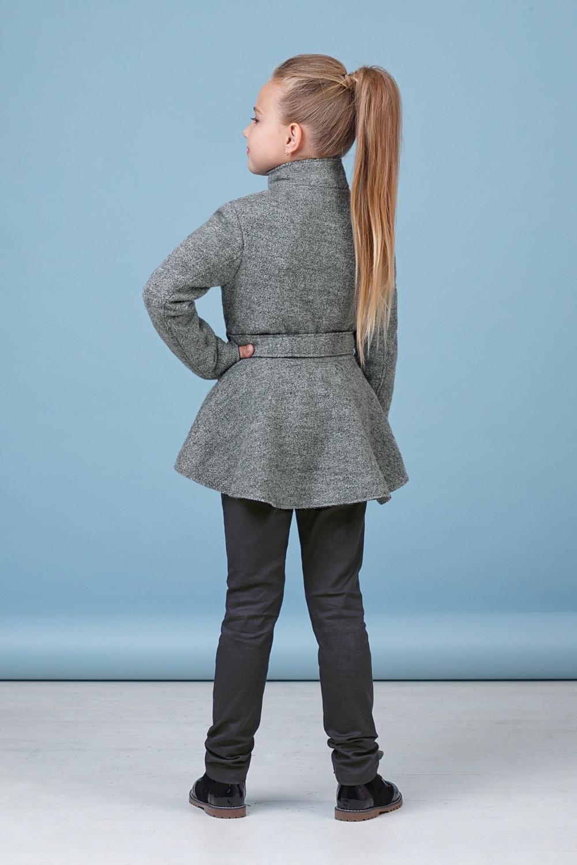 Пальто серое для девочки 50-8002-3
