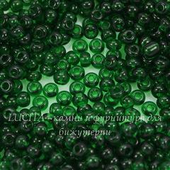 50060 Бисер 6/0 Preciosa прозрачный темно-зеленый
