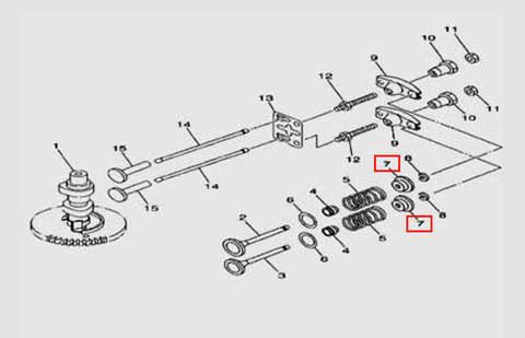 Тарелка пружины для лодочного мотора F5 Sea-PRO(5-7)