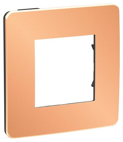 Рамка на 1 пост. Цвет Медь/антрацит. Schneider Electric Unica Studio. NU280258